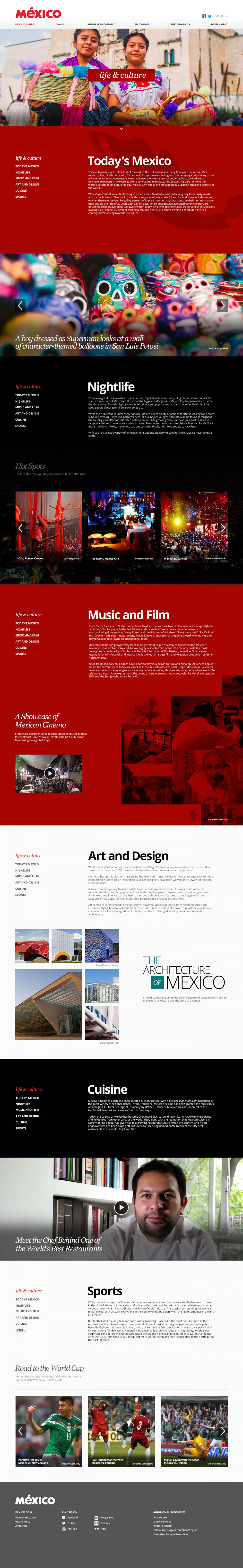 Life and Culture landing page