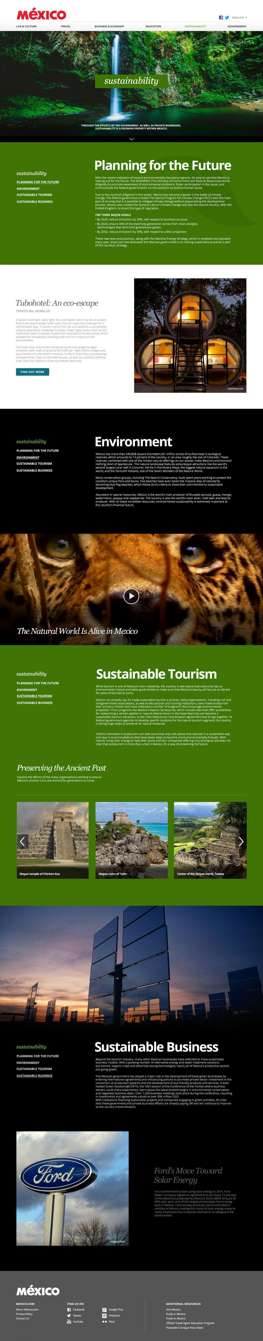 Sustainability landing page