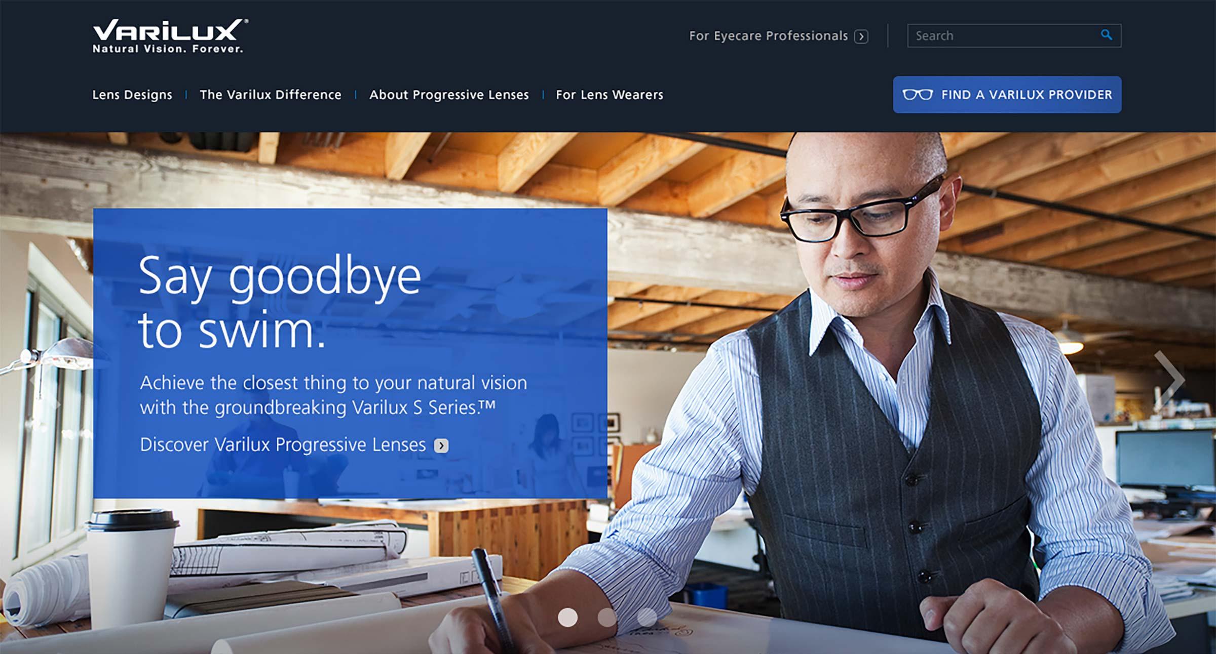 Essilor Varilux Homepage