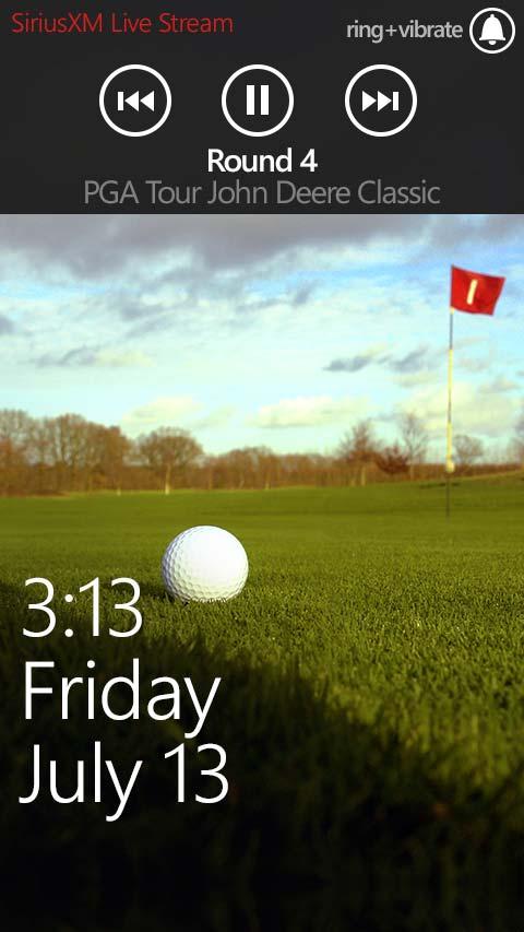 PGA Tour Windows 8 Mobile App Video Screen