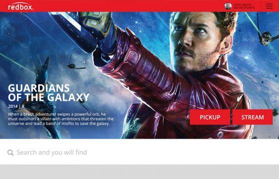 Redbox.com site design concept