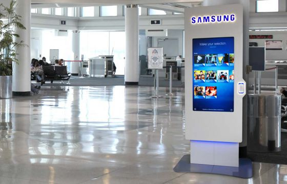 Samsung NFC content vending machine kiosk