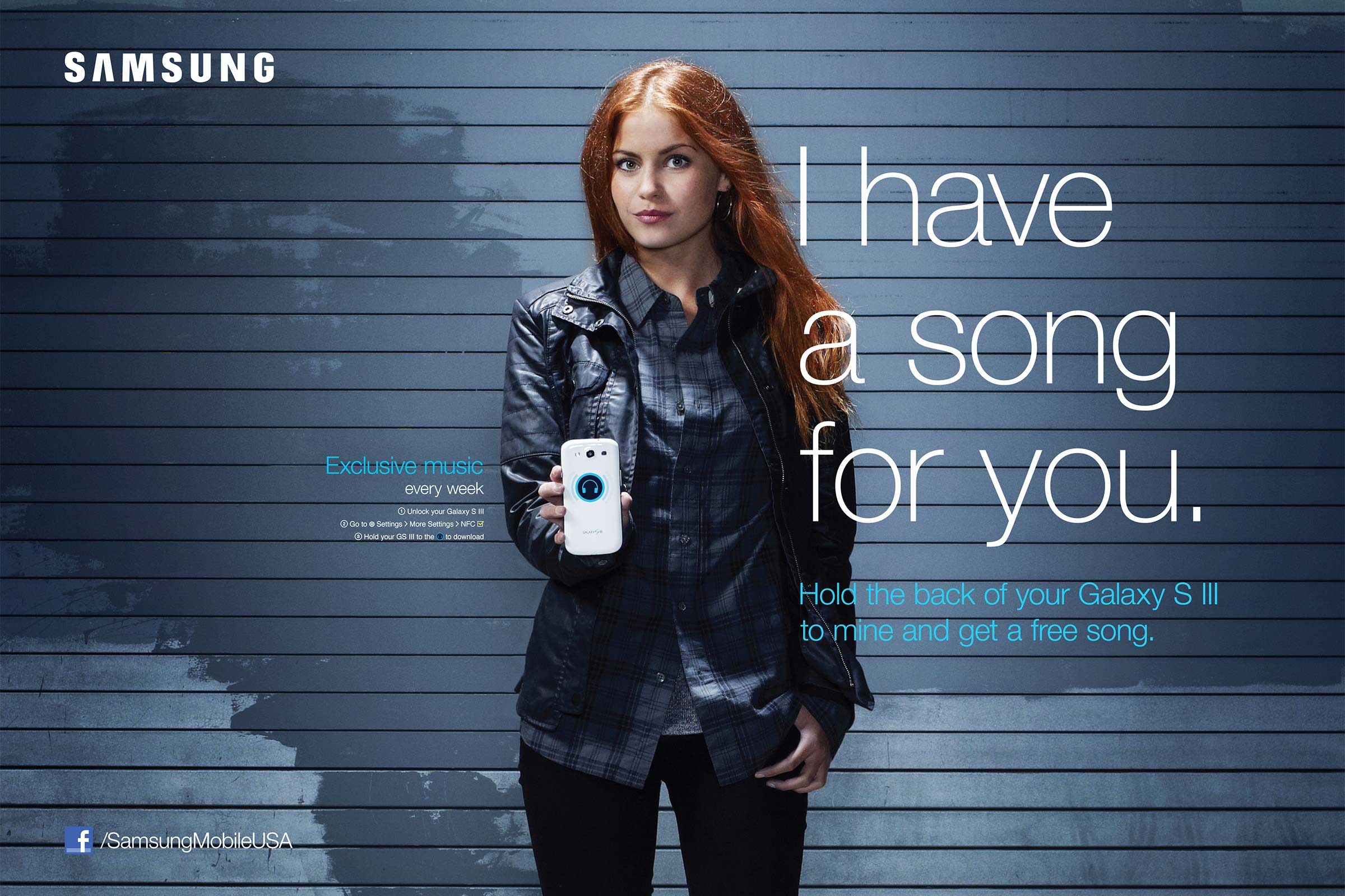 Samsung NFC Powered Out Of Home Poster