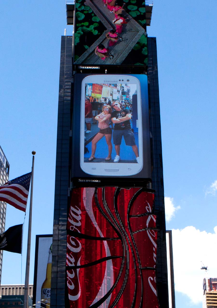 Participant video shared live to the Samsung Times Square billboard