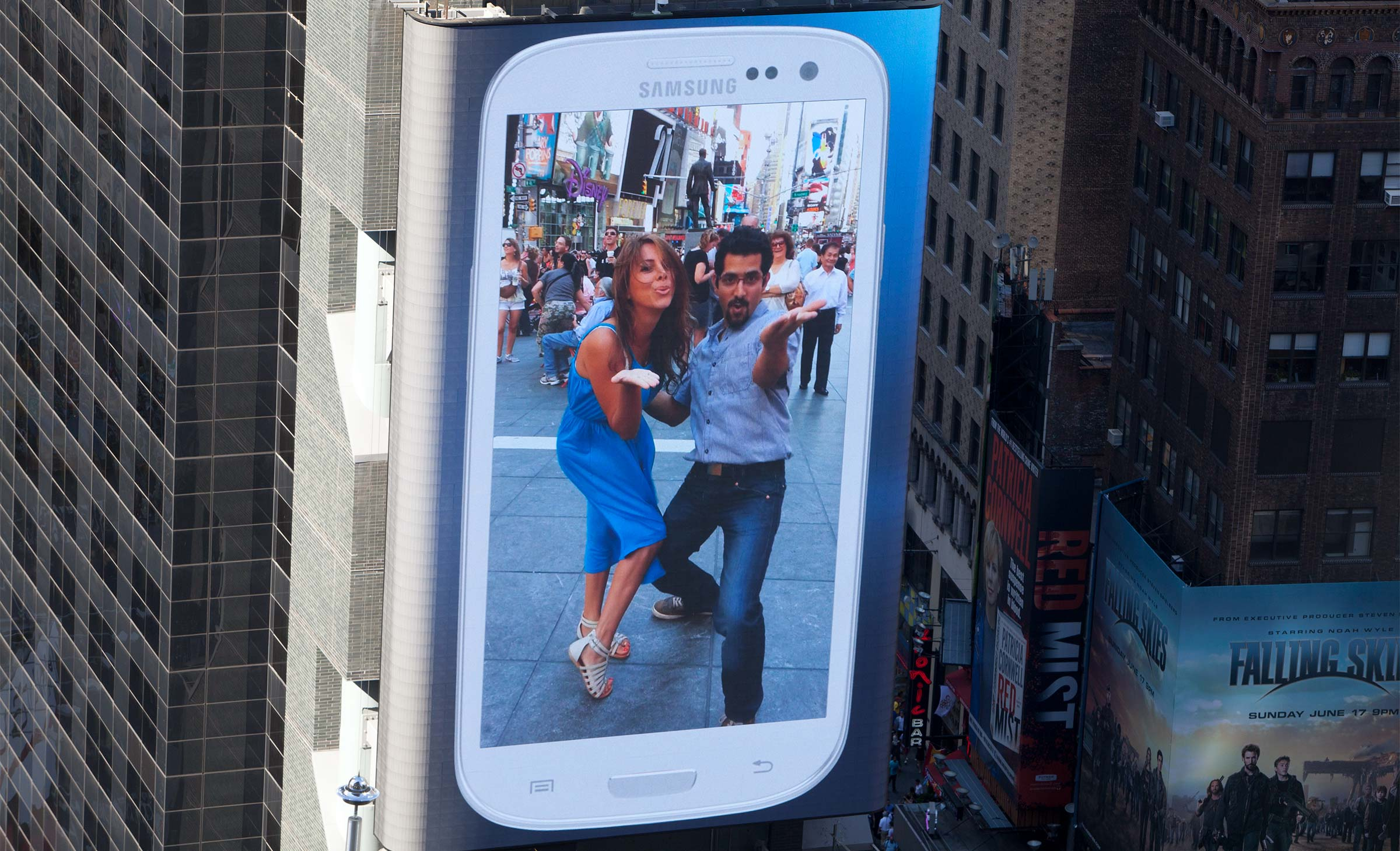 Samsung Galaxy SIII Times Square Activation