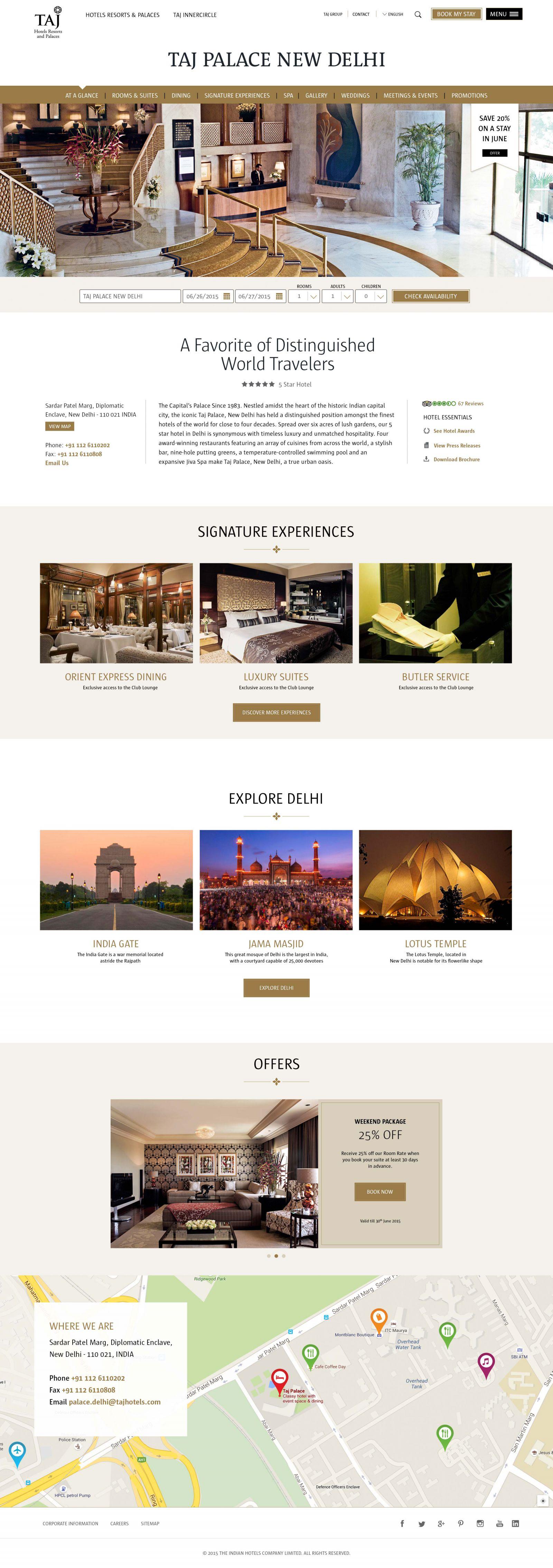 Taj hotel page