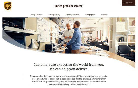 UPS Solvers web site thumbnail