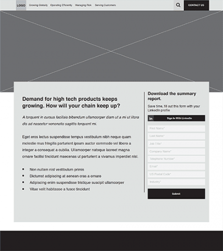 gated content wireframe