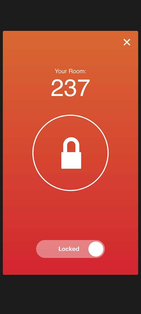 IHG mobile key, locked