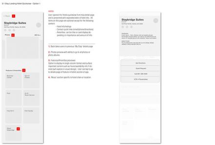 IHG mobile app annotated wireframe