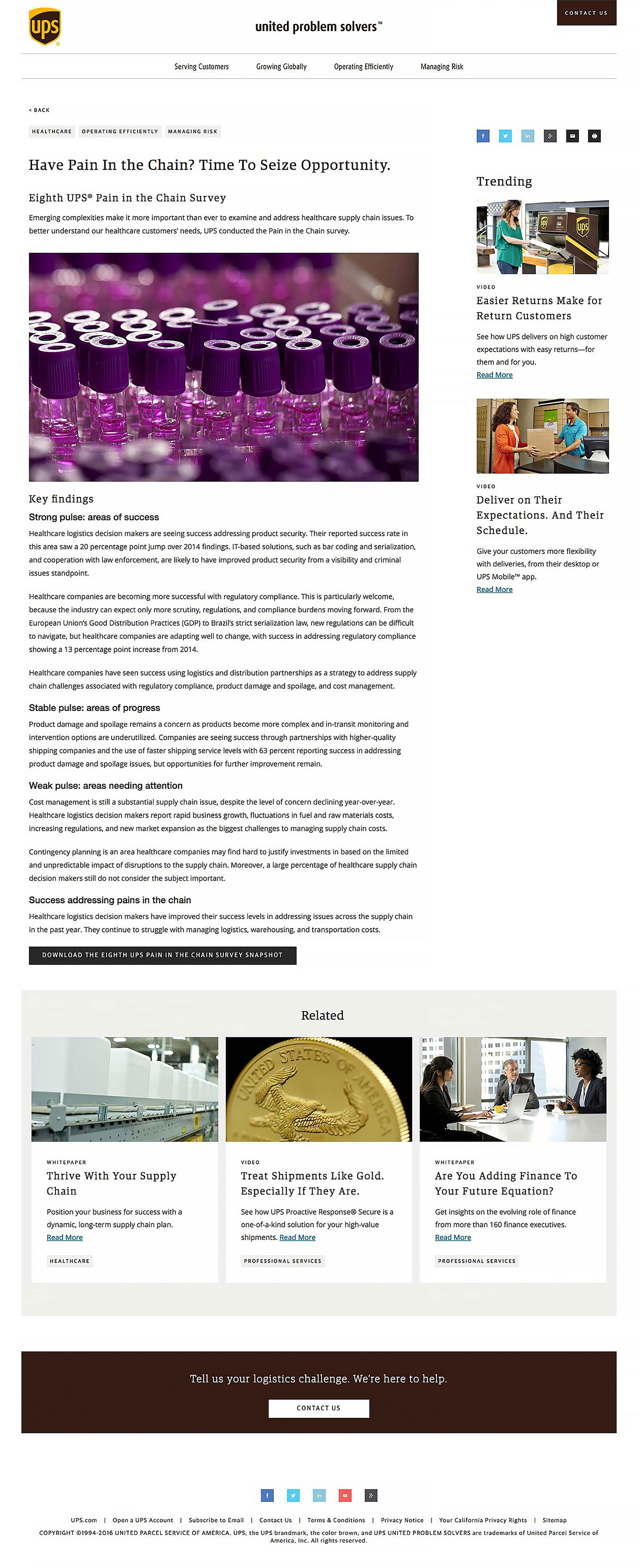 Article content page